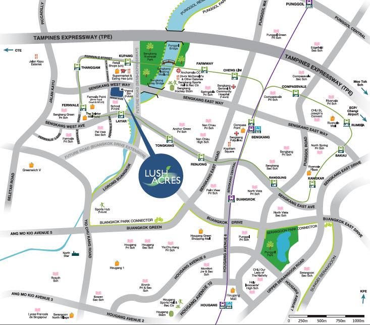 Lush Acres EC Location